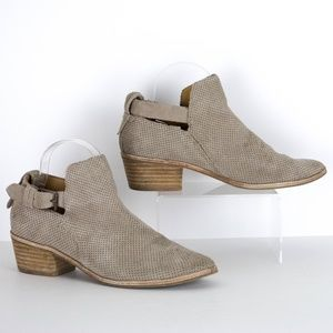 Dolce Vita Taupe Cut Out Ankle Booties 8.5 SA